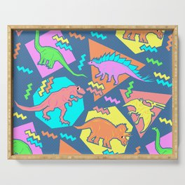 Nineties Dinosaur Pattern Serving Tray