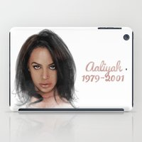 aaliyah iPad Cases featuring Aaliyah by Tribute Portrait