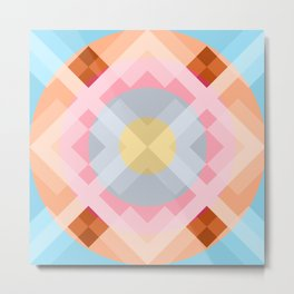 Colorful Retro Pattern 2 Metal Print
