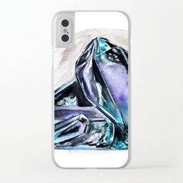 Rainbow Fluorite Crystals Watercolor Clear iPhone Case