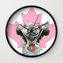 Portuguese Canadian Biker Hot Pink Culture. Wall Clock