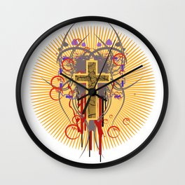 The Cross at Sunrise Wall Clock
