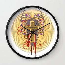 The Cross at Sunrise Wall Clock