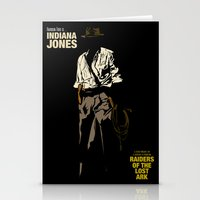 indiana jones Stationery Cards featuring Indiana Jones: Raiders of the Lost Ark by Jamesy
