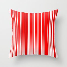 Red Track Throw Pillow