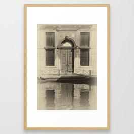 Venice Reflections Framed Art Print
