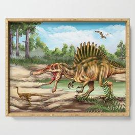 Dinosaur Species Serving Tray