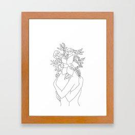 Blossom Hug Framed Art Print