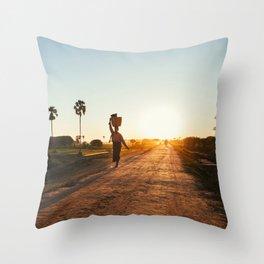 Burmese Sunrise Throw Pillow