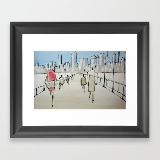 drawn to the centre Framed Art Print