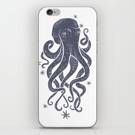 Octopus Squiggly King Of The Sea Pattern iPhone Skin