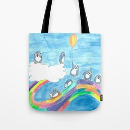 Penguin Playtime Tote Bag