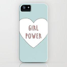 Girl power heart illustration - Girl Gang Prints iPhone Case