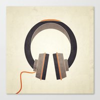 headphones Canvas Prints featuring Headphones by Sarah Rodriguez