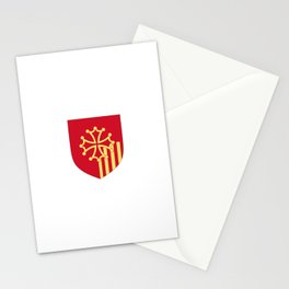 Languedoc-Roussillon symbol shield Stationery Cards