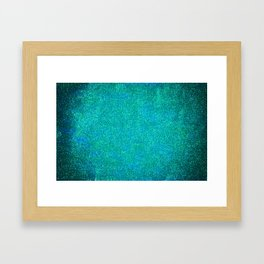 Mermaid Glitter Framed Art Print