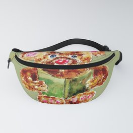 Painted Teddy Bear Fanny Pack