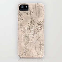 Vintage Map of The Caribbean (1732) 2 iPhone Case