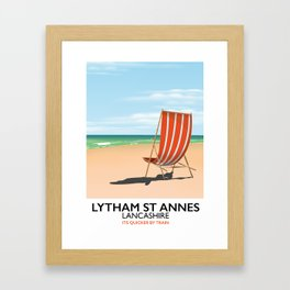 Lytham St Annes Lancashire seaside poster Framed Art Print