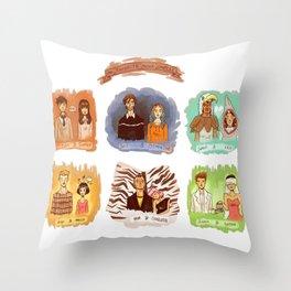 My favorite romantic movie couples Throw Pillow