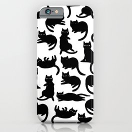 Black Cat Poses iPhone Case