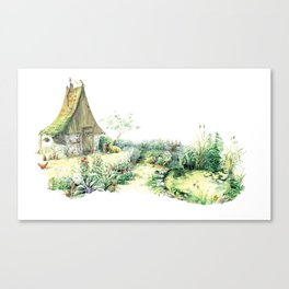 Literary Garden for Wizards and Gnomes Canvas Print