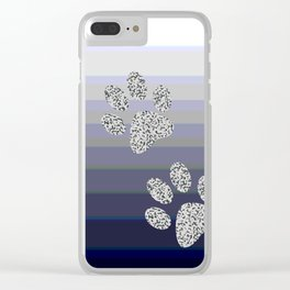 Paw Prints Clear iPhone Case