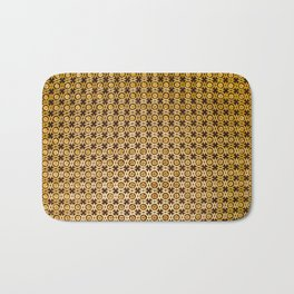 Gold and wood carving pattern Bath Mat