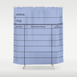 LiBRARY BOOK CARD (twilight) Shower Curtain