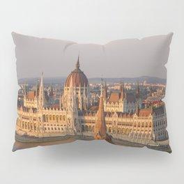 Budpest Sunset over Parliament Pillow Sham