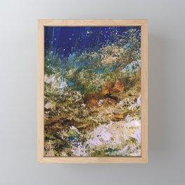 peninsula blue, monterey Framed Mini Art Print