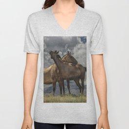 Montana Horses Unisex V-Neck