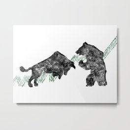 Bear vs. Bull #3 Metal Print