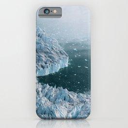Giant Silent Glacier - Aerial Landscapes iPhone Case