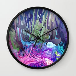 405 - Abstract Colour Design Wall Clock