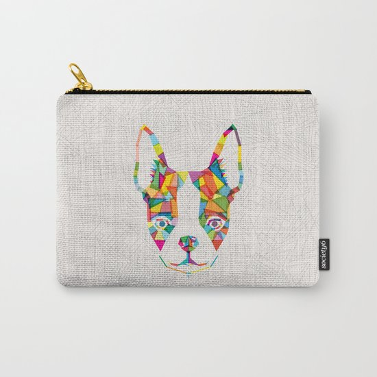 Rainbow Bulldog Carry-All Pouch