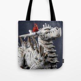 The Winter Tree Dragon Tote Bag