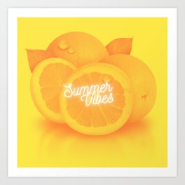 Summer Vibes (Oranges) Art Print