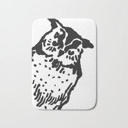 So Wise Black Owl Bath Mat