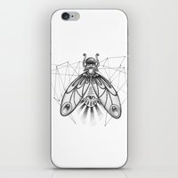 sacred geometry iPhone & iPod Skins featuring Sacred Fly Geometry by mb13