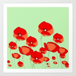 Field of Poppy Art Print