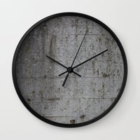 concrete Wall Clocks featuring Concrete by Jeanette Nilssen