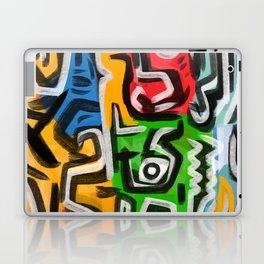 Primitive street art abstract Laptop & iPad Skin