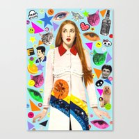 sansa Canvas Prints featuring Sansa by Neon Wonderland