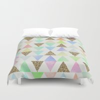girly Duvet Covers featuring Girly Things by Zeke Tucker