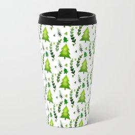 Watercolor Christmas Tree Travel Mug