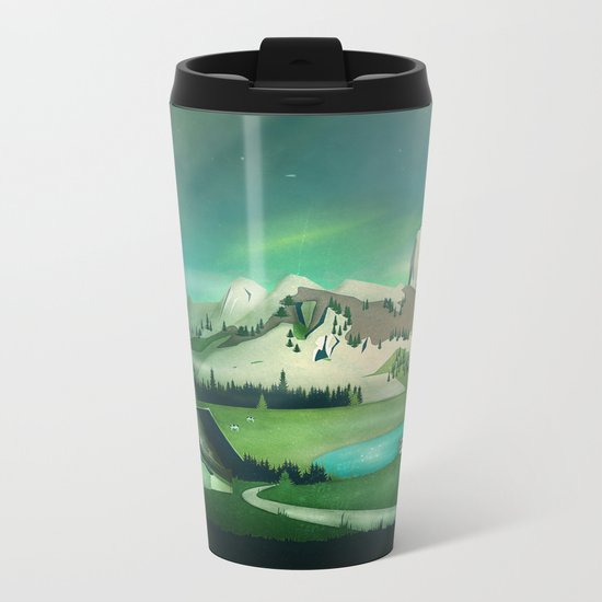 Alpine Enchantment Metal Travel Mug