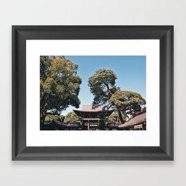 Meiji Jingu Shrine in Tokyo Framed Art Print