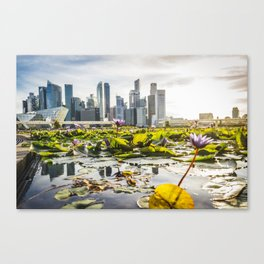Singapore skyline and financial district Canvas Print