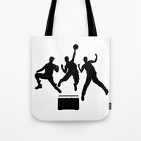 beastie boys Tote Bags featuring #TheJumpmanSeries, Beastie Boys by @thepeteyrich